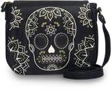 Loungefly Cream & Gold Skull Crossbody Bag