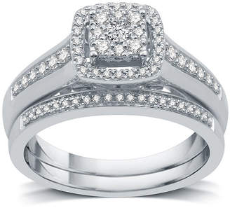 I Said Yes I Said Yes Womens 3/8 CT. T.W. Genuine White Diamond Platinaire Bridal Set
