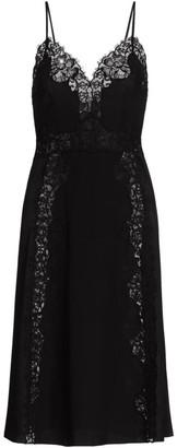 Alberta Ferretti Lace Silk Slip Dress
