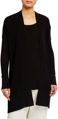 Eileen Fisher Corded Organic Cotton Open Cardigan