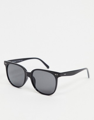A. J. Morgan AJ Morgan round sunglasses in black