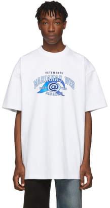 Vetements White Marianas Web T-Shirt
