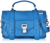 Proenza Schouler PS1 Tiny Sea Blue Lux Leather Satchel Bag