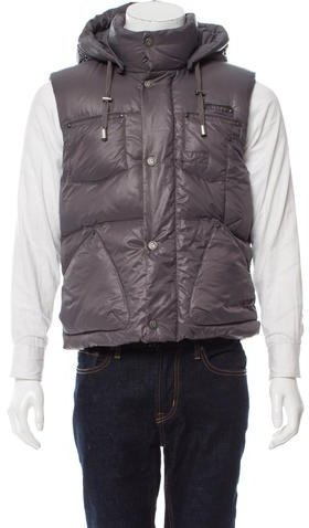 Galliano Hooded Puffer Vest w/ Tags