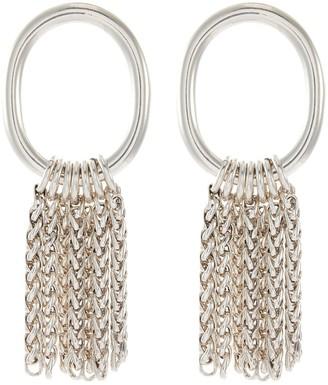 Philippe Audibert 'Jenny Lisse' chain fringe cutout circle earrings