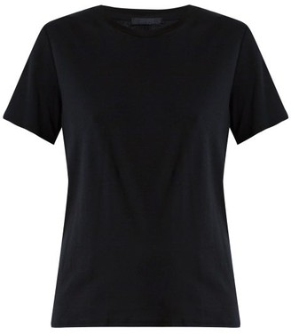 The Row Wesler Short-sleeved Cotton-jersey T-shirt - Womens - Black