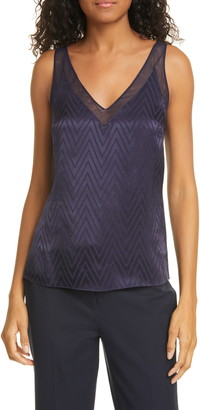 Ted Baker Piiaa Tonal Chevron V-Neck Shell
