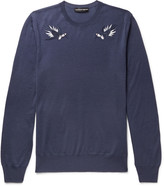 Alexander Mcqueen - Embroidered Wool Sweater
