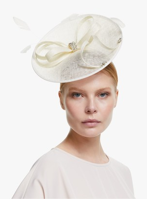 John Lewis & Partners Laurel Crystal Loop Disc Occasion Hat, Off White