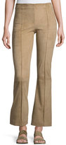 The Row Beca Seamed Suede Pants, Sand