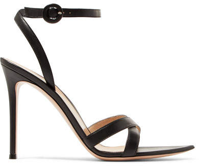 Gianvito Rossi Alixia 105 Leather Sandals - Black
