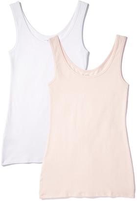 Iris & Lilly Women's BELK023M2 Soft Pink/White XXL (US 16)
