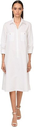 Max Mara Cotton Poplin Midi Shirt Dress