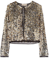 Emilio Pucci Sequined Tulle Jacket - Gold