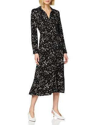 Warehouse Women's Daisy Print Midi Shirt Dress Casual,6