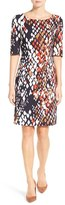 BOSS Women's 'Dinomi' Abstract Print Sheath Dress