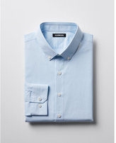 Express slim striped button-collar dress shirt