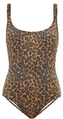 Fisch Donna Ruched-strap Leopard-print Swimsuit - Leopard