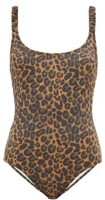 Fisch Donna Ruched-strap Leopard-print Swimsuit - Womens - Leopard
