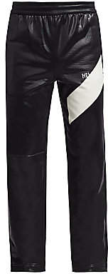 Helmut Lang Men's Sash Coated Logo Track Pants