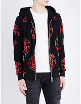 Philipp Plein Skull-print cotton-jersey hoody