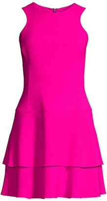 Black Halo Cheryl Crepe Mini Dress