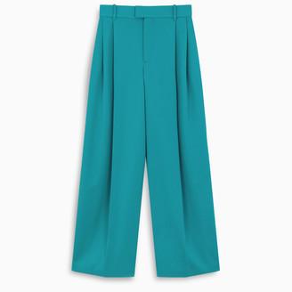 Bottega Veneta Blue palazzo trousers