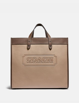 Coach Field Tote 40 In Colorblock With Badge