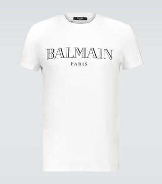 Balmain Logo print cotton T-shirt