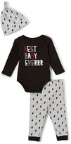 Baby Starters Black & White 'Best Baby Everrr' Bodysuit Set - Infant