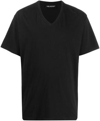 Neil Barrett V-neck short sleeved T-shirt