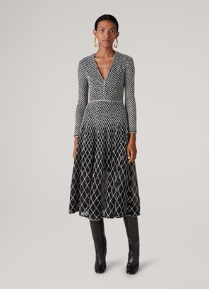 St. John Novelty Diamond Knit Dress