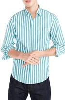 J.Crew J. CREW Slim Fit Stretch Secret Wash Stripe Sport Shirt