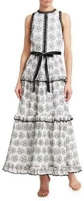 ML Monique Lhuillier Sleeveless Lace Dress