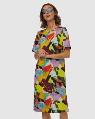 gorman Broad Leaf Jersey Dress