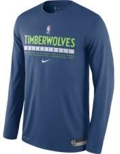 Nike Men's Minnesota Timberwolves Practice Long-Sleeve T-Shirt