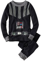 Kids Star WarsTM Glow In The Dark Long John Pajamas In Organic Cotton