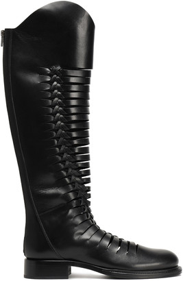 Ann Demeulemeester Cutout Leather Knee Boots