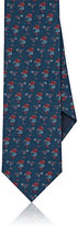 Barneys New York Men's Martini-Glass-Pattern Plain-Weave Necktie