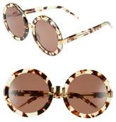 Wildfox Couture Women's 'Malibu' 56Mm Round Sunglasses - Amber Tortoise/ Gold/ Brown