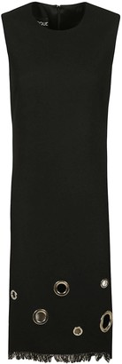 Moschino Fringed Hem Sleeveless Slim Dress