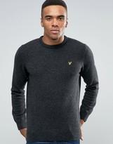 Lyle & Scott Crew Sweater Lambswool in Charcoal Marl