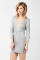 Select Fashion Fashion Womens Grey Cowl Back Slinky Bodycon Dress - size L