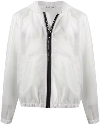 Givenchy White Hooded Windbreaker Jacket