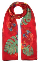 Valentino Floral-printed silk scarf