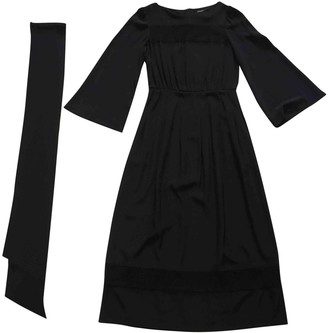 Vanessa Seward Black Silk Dresses