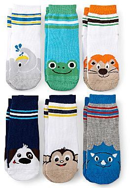 JCPenney Okie Dokie® 6-pk. Animal Socks - Boys 18m-5t