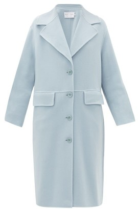 Proenza Schouler White Label Single-breasted Pressed Wool-blend Coat - Womens - Light Blue