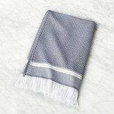 CB2 Roca Navy Blue Turkish Bath Towel