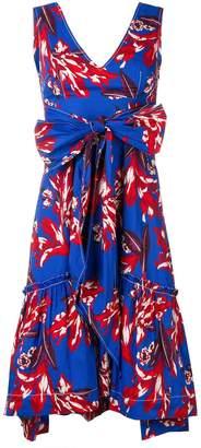 P.A.R.O.S.H. knot-detail floral dress